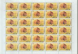 BUZIN / RD CONGO 2002 / FEUILLE COMPLETE DENTELEE / SERIE LIONS / COB 2095 - 1985-.. Oiseaux (Buzin)