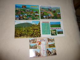 LOT DE 5 CARTES ..ALSACE..ROUTE DU VIN...VIGNOBLES ..VIGNES - Cartes Postales