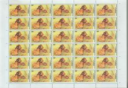 BUZIN / RD CONGO 2002 / FEUILLE COMPLETE DENTELEE / SERIE LIONS / COB 2097 - 1985-.. Oiseaux (Buzin)