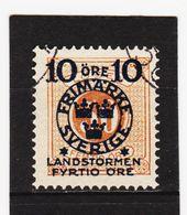 AUA509 SCHWEDEN 1916 Michl 105 Gestempelt / Entwertet  ZÄHNUNG Und STEMPEL SIEHE ABBILDUNG - Schweden