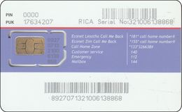 South Africa  GSM Card -mint  ECONET Diff. Chip - South Africa