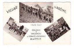 05 Villar D' Arene Colonie De Vacances Comité Entreprise De RNUR Carte 3 Vues CPSM PF Cachet Villar 1962 - Frankrijk