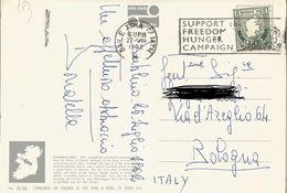 TIMBRO SU CARTOLINA: SUPPORT THE FREEDOM HUNGER CAMPAIGN 1962(193) - Irlanda