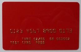 USA - Credit Card Embossing Test - Test Card Pass  - 02/05 - Geldkarten (Ablauf Min. 10 Jahre)