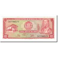 Billet, Pérou, 10 Soles De Oro, 1976, 1976-11-17, KM:112, SPL+ - Pérou
