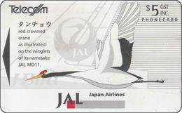 New Zealand Phone Card Japan Airlines JAL Bird - New Zealand