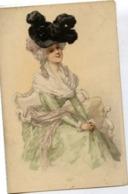 FEMME Au Grand Chapeau - Carte Précurseur - Mujeres