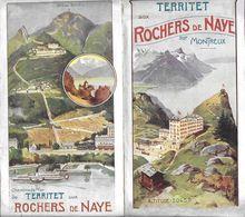 HORAIRE TERRITET AUX ROCHES DE NAVE SUR MONTREUX SUISSE MAI A SEPTEMBRE 1909 - Europe