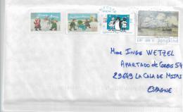 Frankreich XX009 / Schöne Frankatur  Auf Brief Von 2018 Nach Spanien - Briefe U. Dokumente