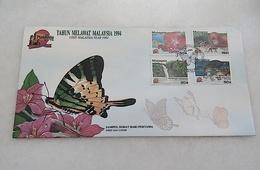 Malaysia FDC Visit Malaysia Year 1994 With Foxing - Malaysia (1964-...)