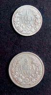 Bulgaria 1 And 2 Leva 1894 AG - Bulgaria