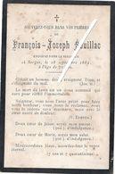 Image Mortuaire - Sorges - SOUILLAC François (époux De MALEVERGNE DE FRESSINIAT Antoinette) - Décès