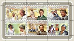 GUINEA BISSAU 2008 - Humanists, ML King - YT 2674-9 - Martin Luther King