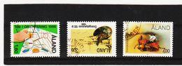 AUA569 ALANDINSELN 1986/87 LOT Gestempelt / Entwertet  ZÄHNUNG Und STEMPEL SIEHE ABBILDUNG - Ålandinseln