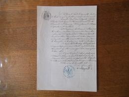 FOURMIES LE 30 JUILLET 1858 LE MAIRE CESAR AUGUSTE LEGRAND CHANGEMENT DE DOMICILE ET MORALITE DE BRUNOIS CONSTANCE - Manuscrits