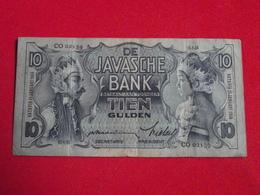 NETHERLANDS INDIES / - DE JAVASCHE BANK - 10 Gulden 1934 Pick 79a - Tb+ ! (CLVG153) - Dutch East Indies