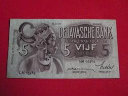 NETHERLANDS INDIES / - DE JAVASCHE BANK - 5 Gulden 1936 Pick 78a - Ttb ! (CLVG154) - Dutch East Indies