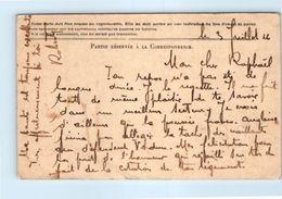 Carte En Franchise Militaire - Correspondance Des Armées De La République - Brigadier Infirmier L'Hernault - Cartes De Franchise Militaire