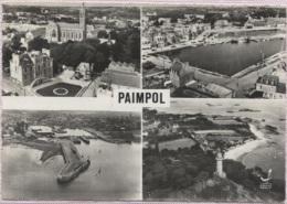 CPSM - PAIMPOL - MULTIVUES - En Avion Au Dessus De ... - Edition Lapie - Paimpol
