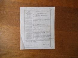 FOURMIES LE 1er MAI 1851 LE MAIRE CESAR AUGUSTE LEGRAND PROMESSE DE MARIAGE SERAPHIN CACHOIR TAILLEUR ET AIMEE CHRIST - Documents Historiques
