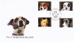 NORFOLK ISLAND 2006 Dogs FDC - Ile Norfolk