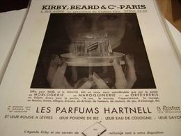 ANCIENNE PUBLICITE PARFUM HARTNELL 1940 - Unclassified