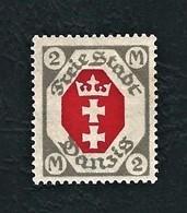 DANZIG 1921 - Stemma Di Danzica In Ottagono - MH - Yvert:DA 89 - Dantzig