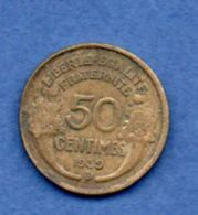Morlon  -  50 Centimes 1939 B    --  état  TB - France