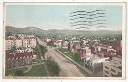 Brigham Street, Looking East, Salt Lake City, Utah - 1920 - Salt Lake City