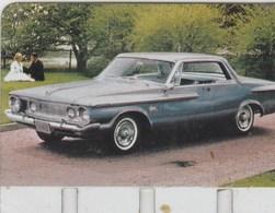 """PLAQUETTE COLLECTION """"L'AUTO  TRAVERS LES AGES"""" OFFERTE PAR COOP  PLYMOUTH FURY  1962 - Automotive"""