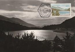 Andorre Francais L Carte Maximum Du Timbre Poste N° 162 1961 - Maximum Cards