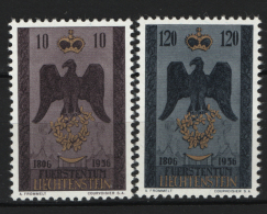 Liechtenstein 1956 Unif. 313/14 **/MNH VF - Liechtenstein