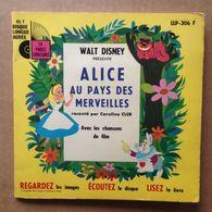 Disney - Livre-disque Vinyle 45 Tours - Alice Au Pays Des Merveilles (1976) - Children