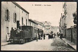 """ROANNE:PLAN Top Sur Le Train à Vapeur Dit """"le Tacot"""" N°10 CFDL, Carte Oblitérée En Concordance Avec Un Cachet........... - Roanne"""