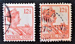 WILHELMINE 1922/41 - OBLITERES - YT 137 - VARIETES DE TEINTES ET D'OBLITERATIONS - Niederländisch-Indien