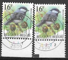 8Nz-918: N° 2804  Zwarte Mees Met Plaatnummer 1 & 2  ( 2 Zegels) - 1985-.. Birds (Buzin)