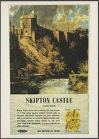 British Railways Advertising Poster, Skipton Castle, Yorkshire - K&WVRPS Postcard - Advertising