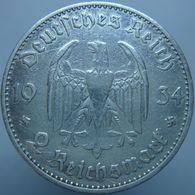 Germany 2 Reichsmark 1934 A VF Date - Silver - 2 Reichsmark