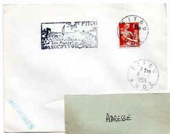 AUDE - Dépt N° 11 = FITOU 1959 = FLAMME SIMILI SECAP Illustrée ' VIN MUSCAT ' - Postmark Collection (Covers)