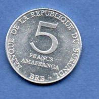 Burundi   --  5 Francs 1980  -   -  état  SUP - Burundi