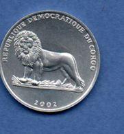 Congo  --  50 Centimes 2002   - Km # 78   -  état  SUP - Congo (Democratic Republic 1998)