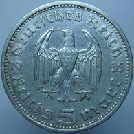 Germany 5 Reichsmark 1935 A VF / XF Paul - Silver - [ 4] 1933-1945: Drittes Reich
