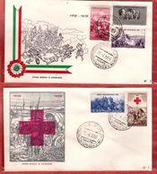 2 Fdc ReRu: GUERRA INDIPENDENZA  (1959); No Viaggiate; AS_Magenta - F.D.C.