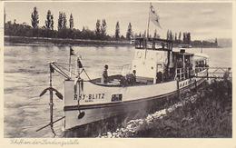 """""""Rhy-Blitz"""" Bei Der Haltestelle Basel-Rheinweiler - 1934         (P-126-60919) - Paquebots"""