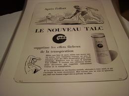 ANCIENNE PUBLICITE LE NOUVEAU TALC  GIBBS - Parfums & Beauté