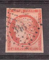 CERES N° 5 A, 40 C Orange Vif Obl Pc 346 De BELFORT , 4 Marges, B/TB, Belle Fraicheur ,cote 575 Euros - 1849-1850 Ceres