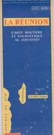 974 - ILE DE LA REUNION - CARTE ROUTIERE ET TOURISTIQUE 1958 SANS LA ROUTE EN CORNICHE - Cartes Routières