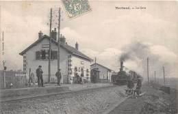 28 - EURE ET LOIR / Marboué -283167 - La Gare - Train - Beau Cliché Animé - Autres Communes