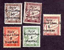 Syrie Taxes N°17/20 N** , 21 N* Variété TB Cote 85 Euros !!!RARE - Syria (1919-1945)