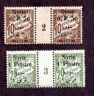 Syrie Taxes N°27,28 Milésimés N** TTB Cote 75 Euros !!!RARE - Segnatasse